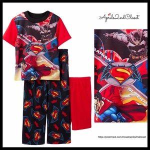 BATMAN VS SUPERMAN PAJAMA SET PJS